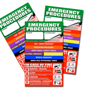emergency procedure flip charts