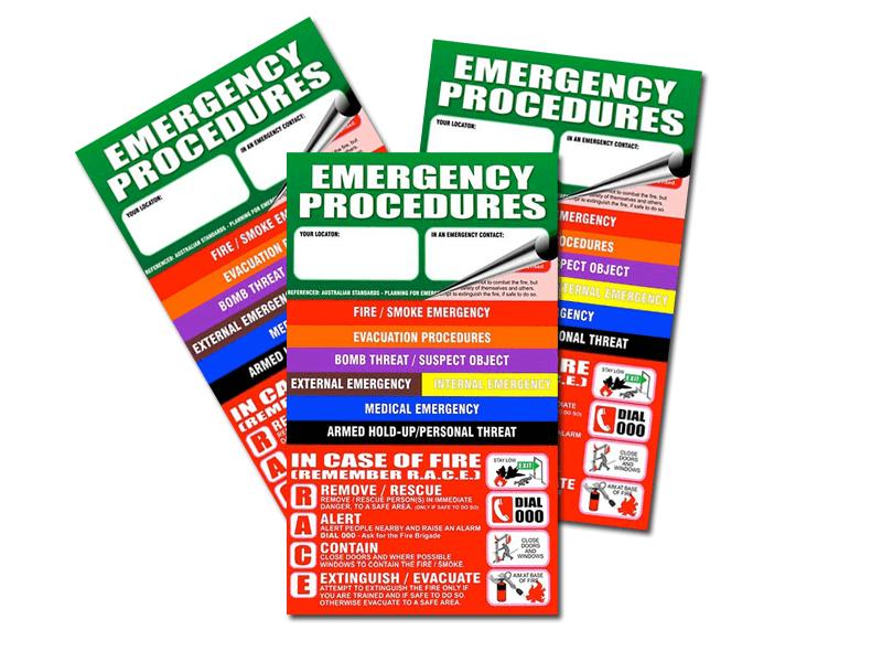 emergency procedure flip charts